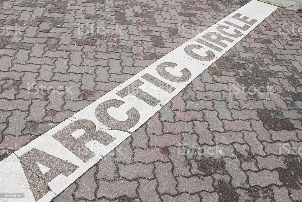 Arctic circle mark royalty-free stock photo