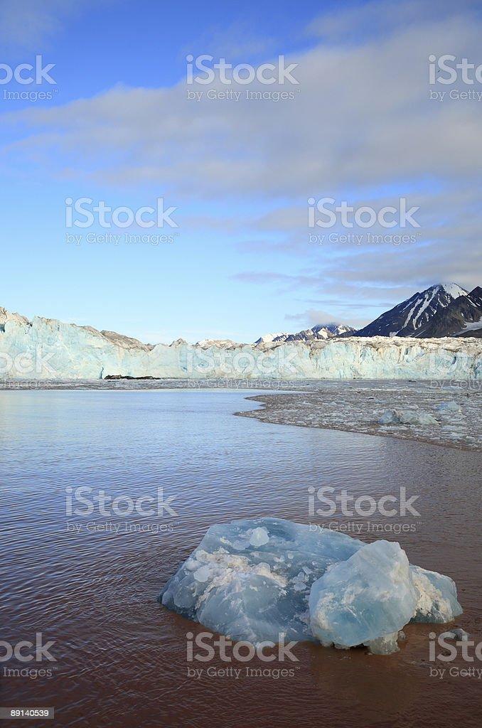 Arctic Glacier Landscape royalty-free stock photo