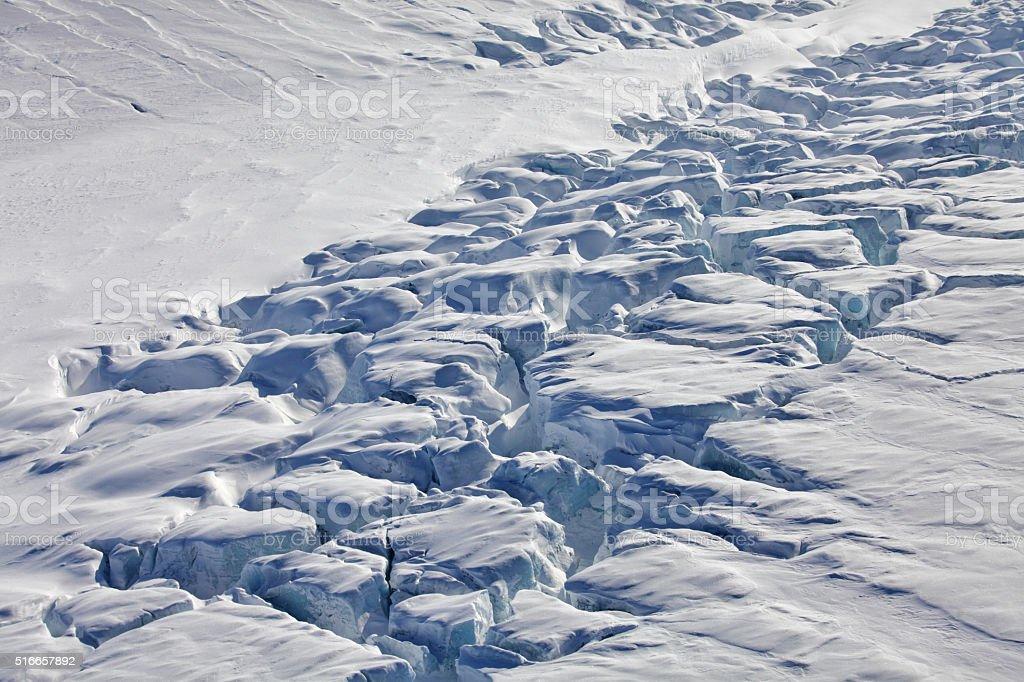 Arctic glaciers stock photo