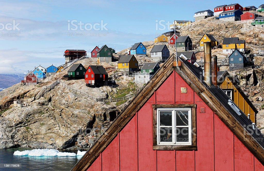 Arctic houses stock photo