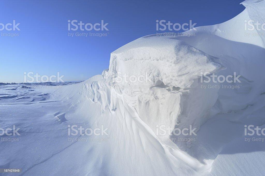 Arctic Ice on Baffin Island, Nunavut, Canada royalty-free stock photo
