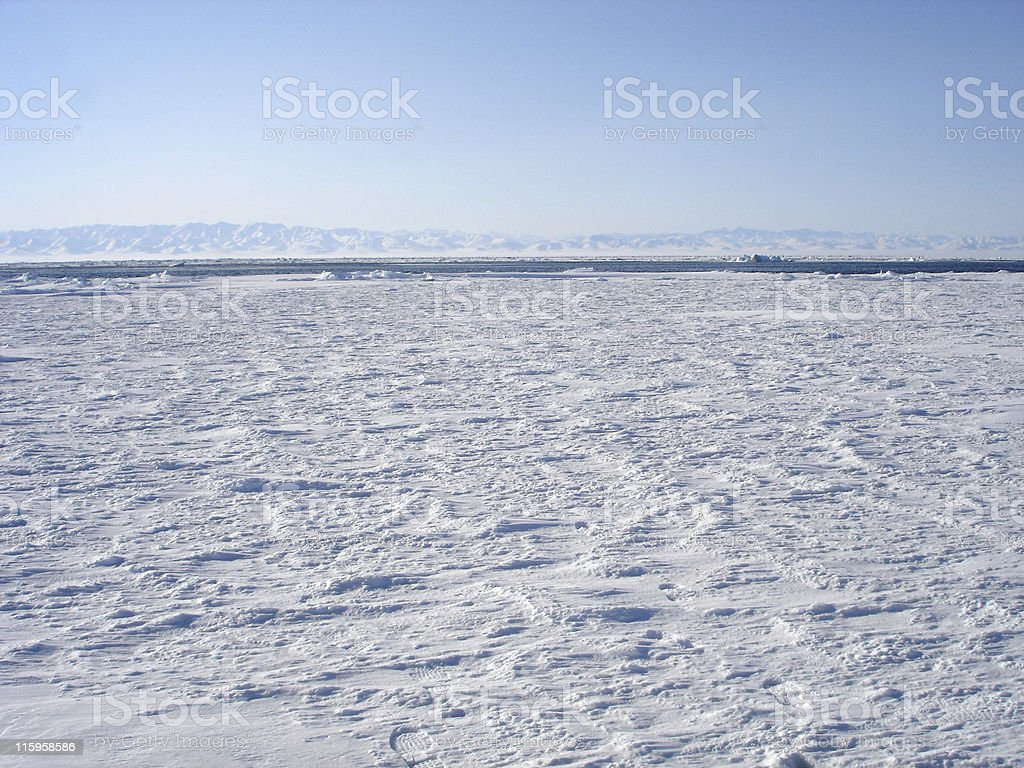 Arctic Ice Pack Vista stock photo
