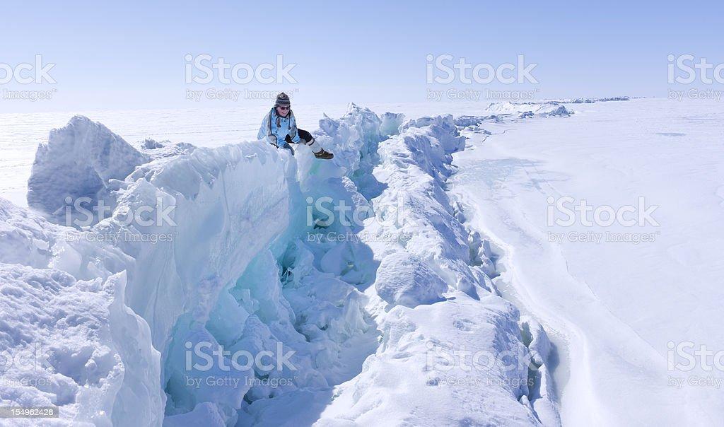 Arctic Ice Pressure Ridge. stock photo