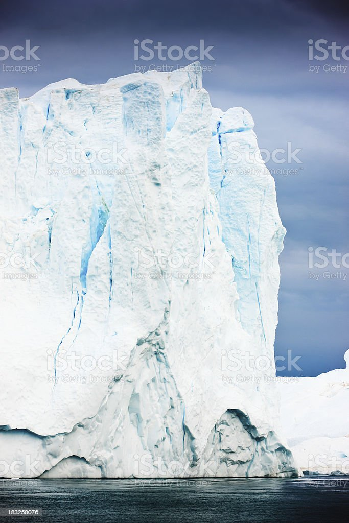 Arctic Iceberg Detail Greenland North Pole royalty-free stock photo
