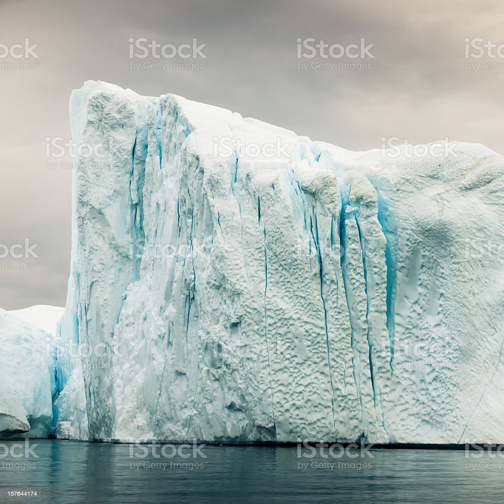Arctic Iceberg From Calving Glacier West Greenland royalty-free stock photo