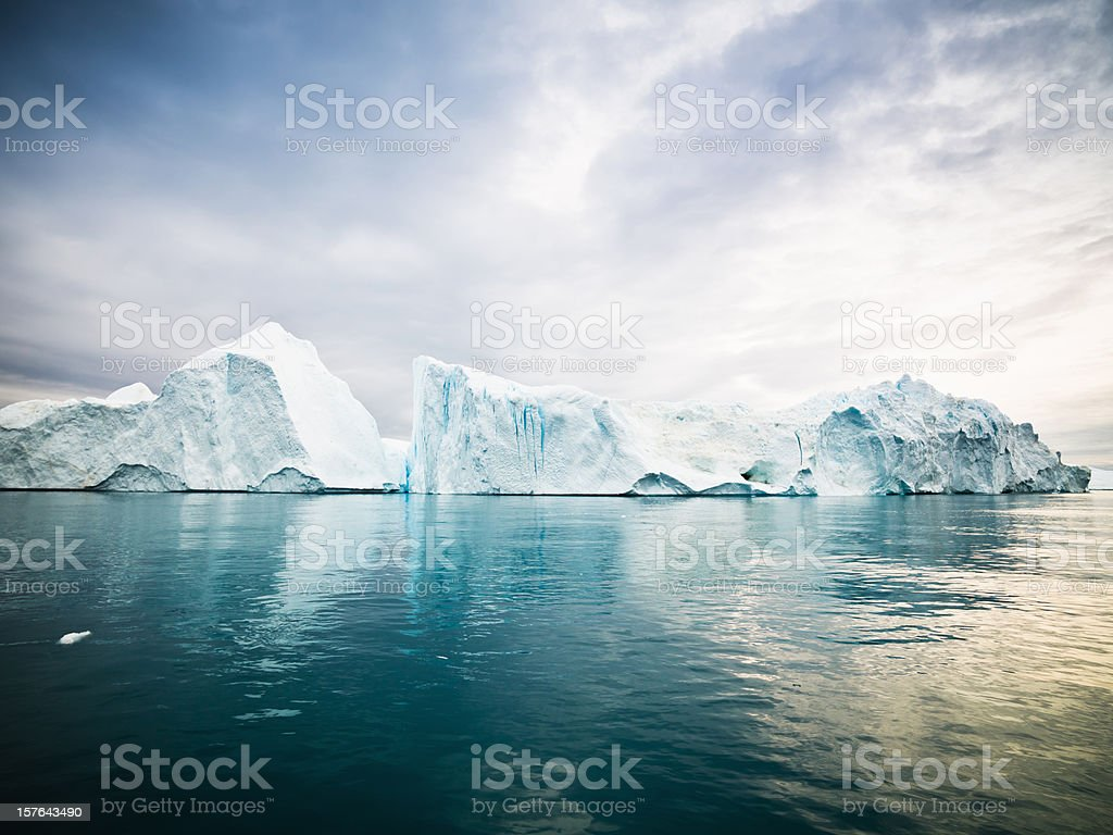 Arctic Icebergs Greenland North Pole stock photo