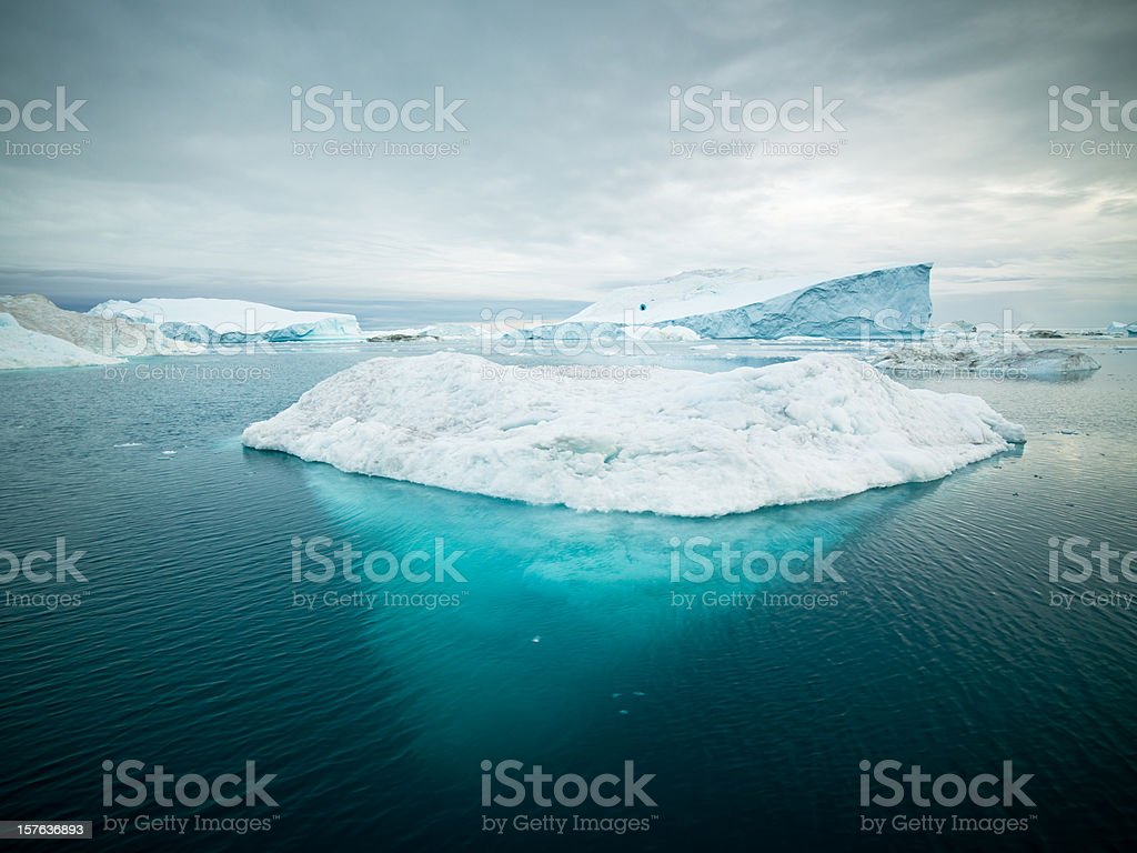 Arctic Icebergs Greenland XXXL stock photo