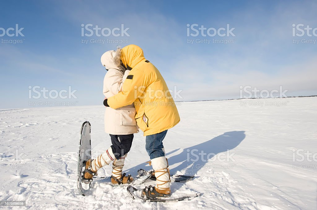 Arctic Kiss, Yellowknife. royalty-free stock photo