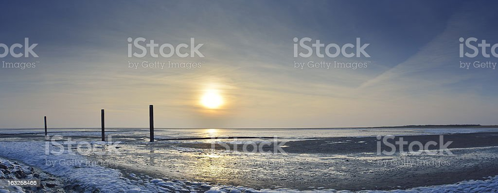 Arctic Landscape Panorama stock photo