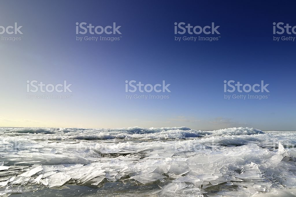 Arctic Landscape with ice royalty-free stock photo