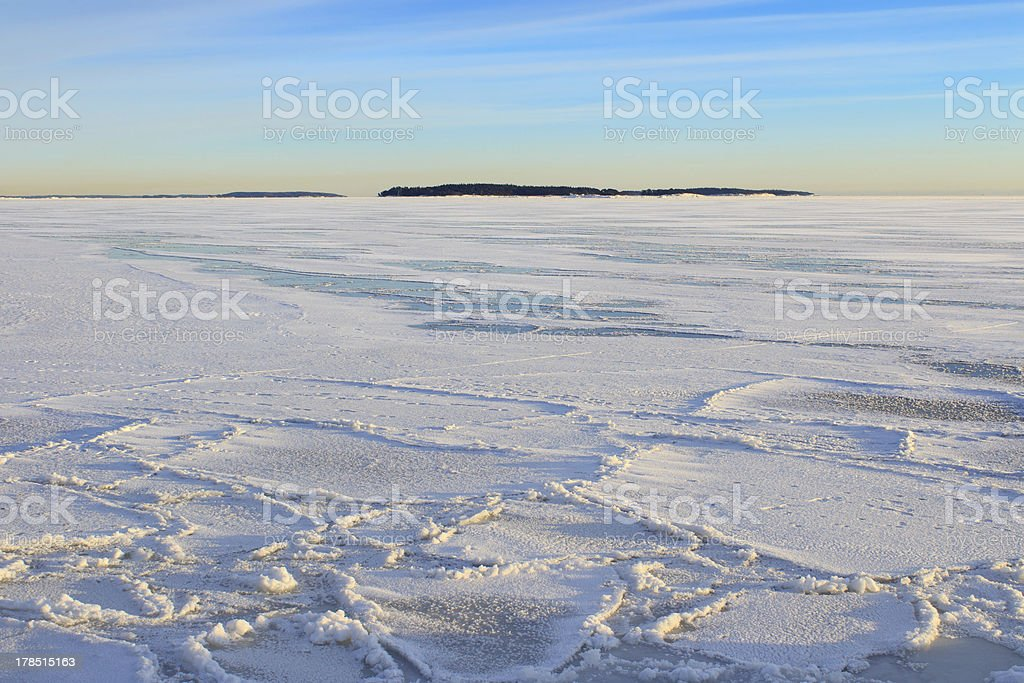 Arctic look winter afternoon royalty-free stock photo