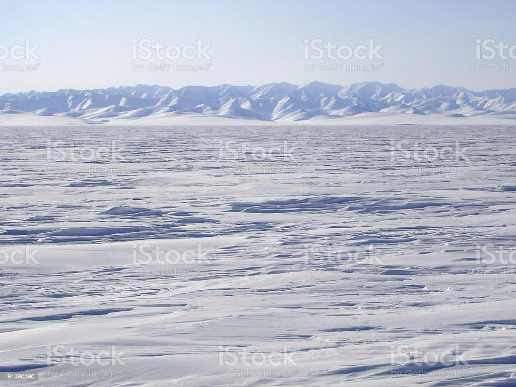 Arctic Mountain Landscape stock photo