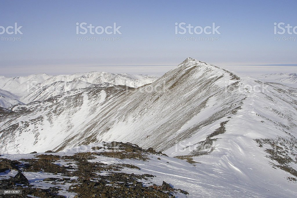 Arctic Mountain Ridge stock photo