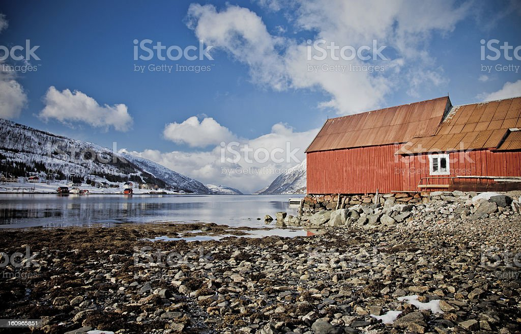 Arctic Norway, Fjords & Huts stock photo