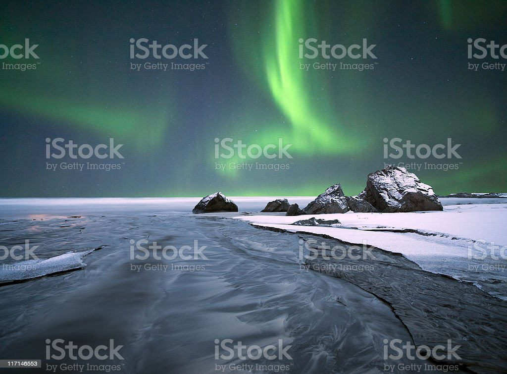 Arctic Ocean Aurora... stock photo