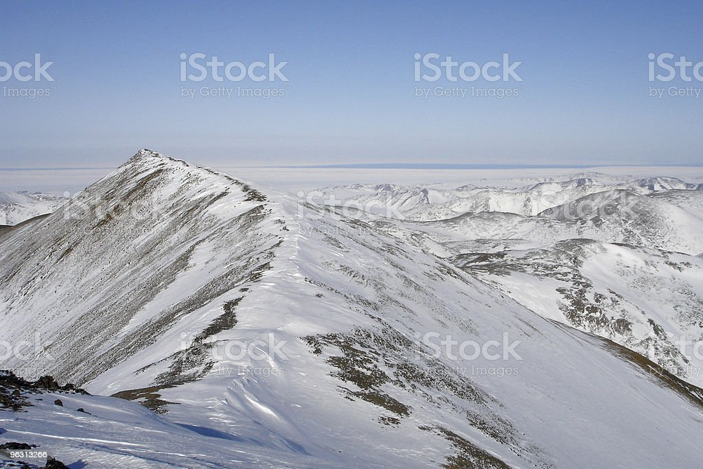 Arctic Ocean from Mountain Peak stock photo