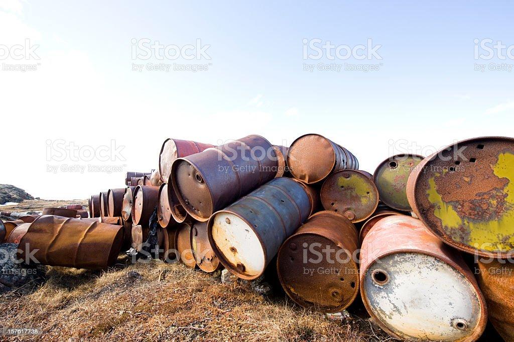 Arctic Oil Barrels. royalty-free stock photo