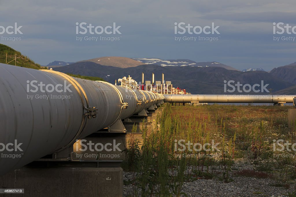 Arctic oil industry. stock photo