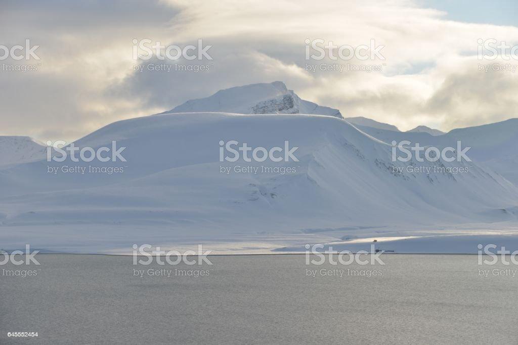 Arctic panorama stock photo