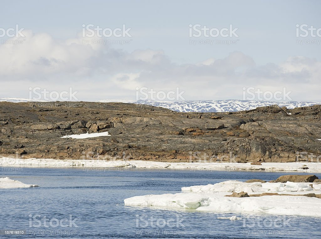 Arctic River, Baffin Island. stock photo