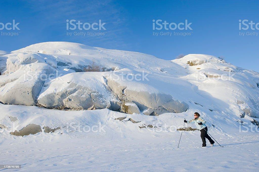 Arctic Skier near Yellowknife. royalty-free stock photo