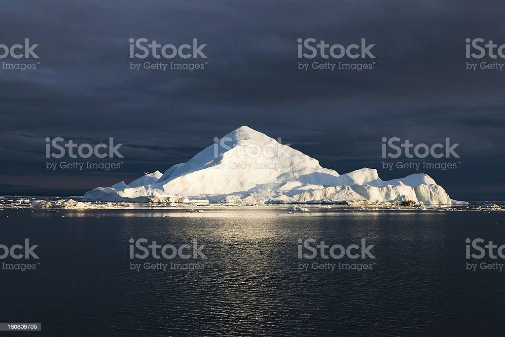 Arctic Sun Iceberg Greenland royalty-free stock photo