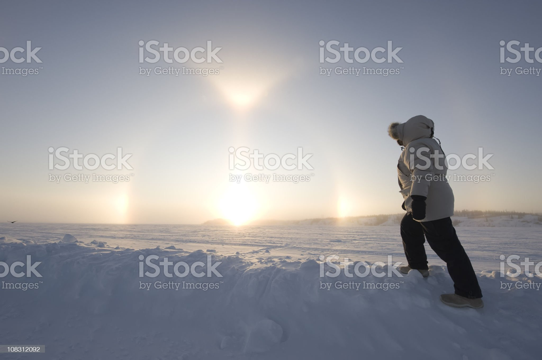 Arctic Sundogs or Parhelion. royalty-free stock photo