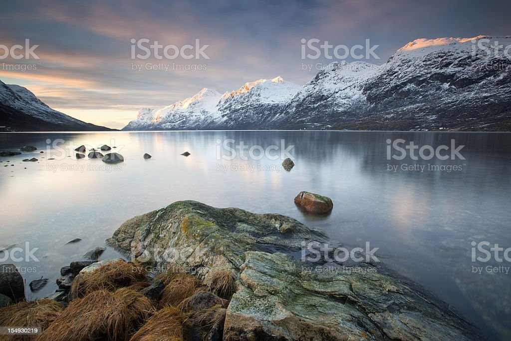 Arctic Sunset royalty-free stock photo