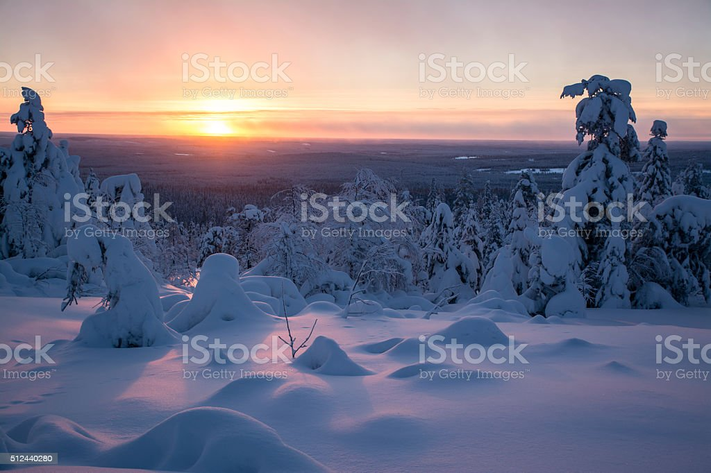 Arctic sunset stock photo