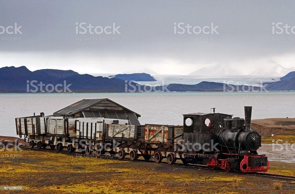 Arctic Train stock photo