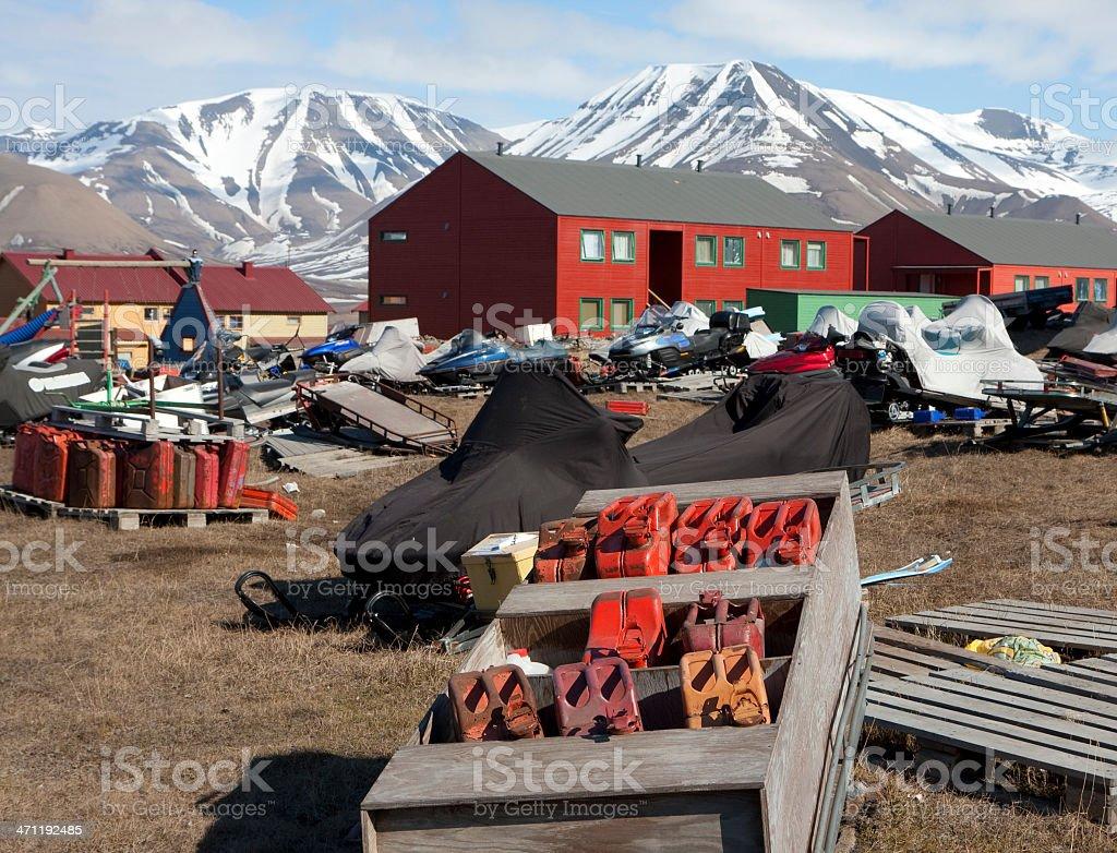 Arctic Transport Dump royalty-free stock photo