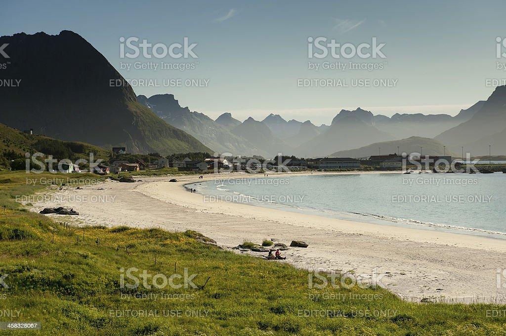 Arctic white beach royalty-free stock photo