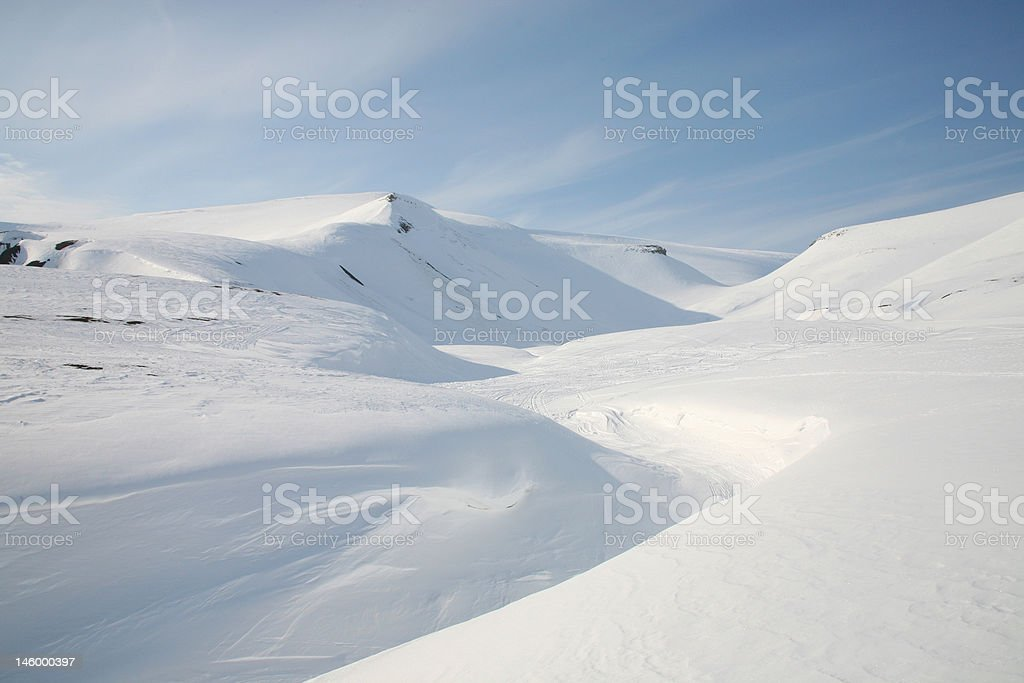Arctic wilderness on Svalbard, Norway stock photo