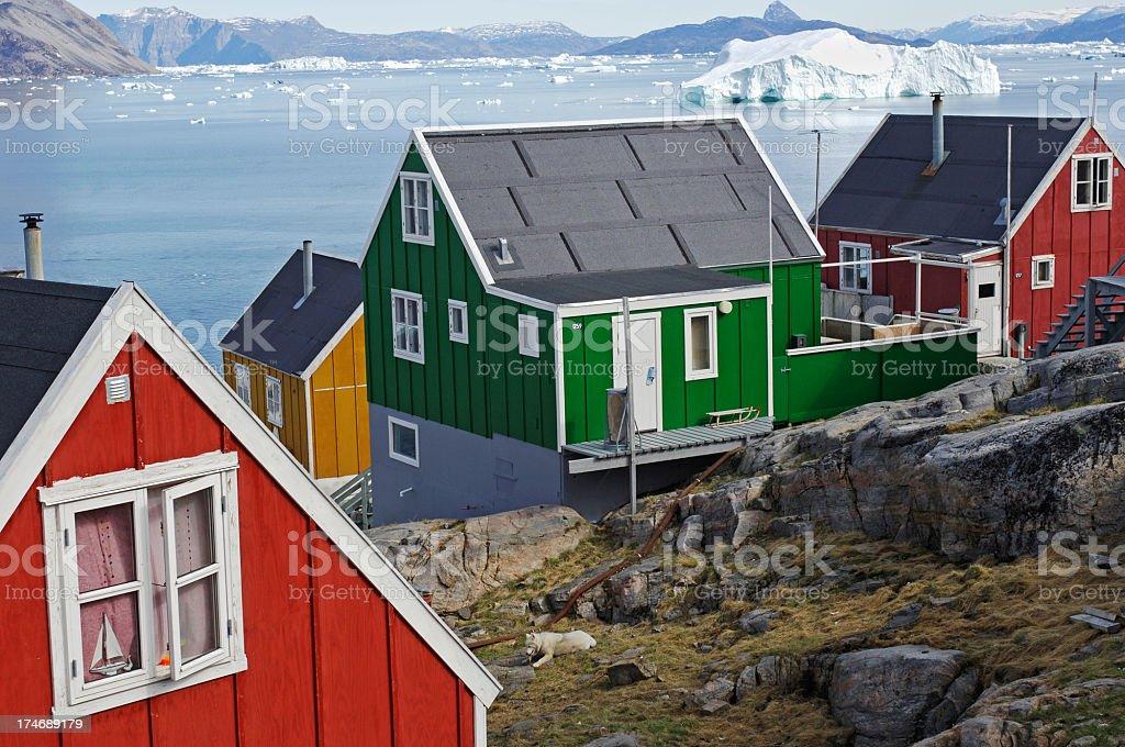 Arctic window stock photo