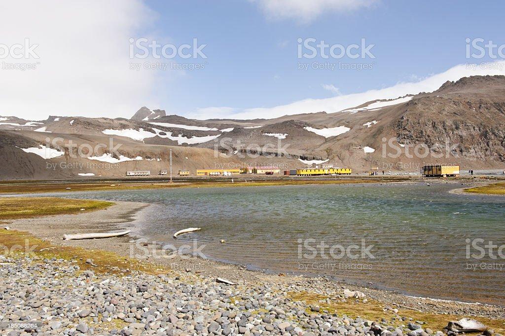 Arctowski base stock photo