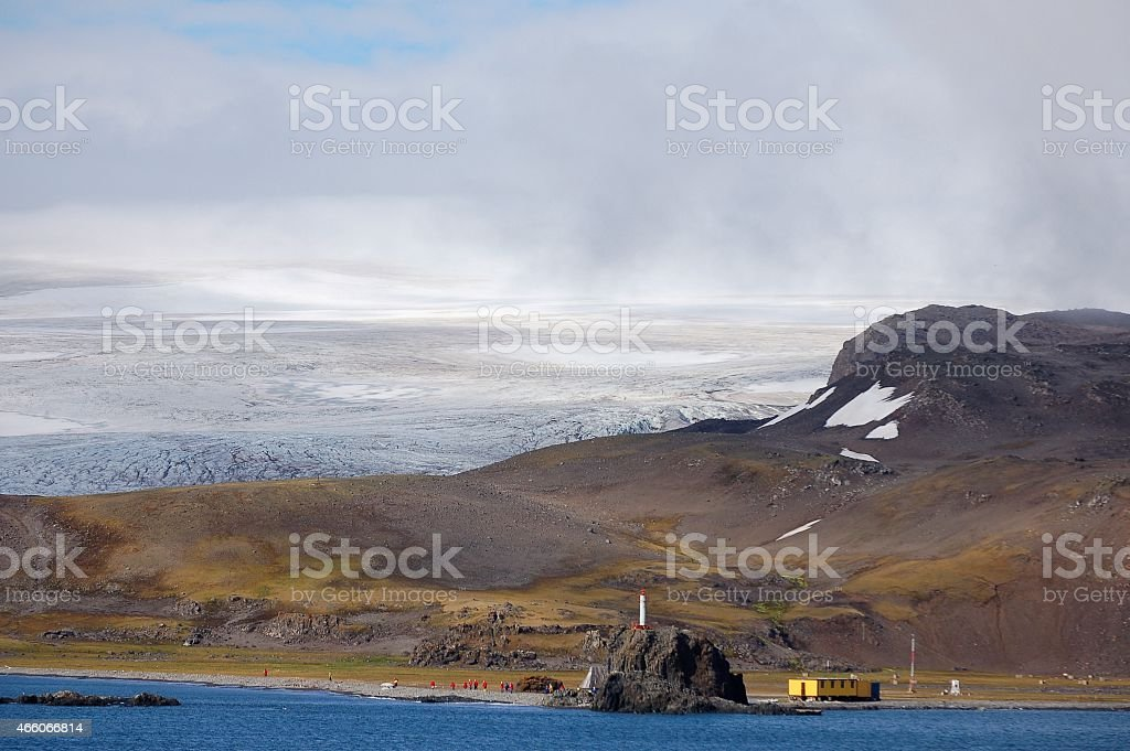 Arctowski Polish Antarctic Science Station stock photo