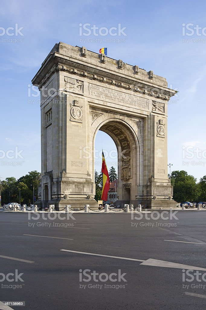 Arcul de Triumf, Bucharest stock photo