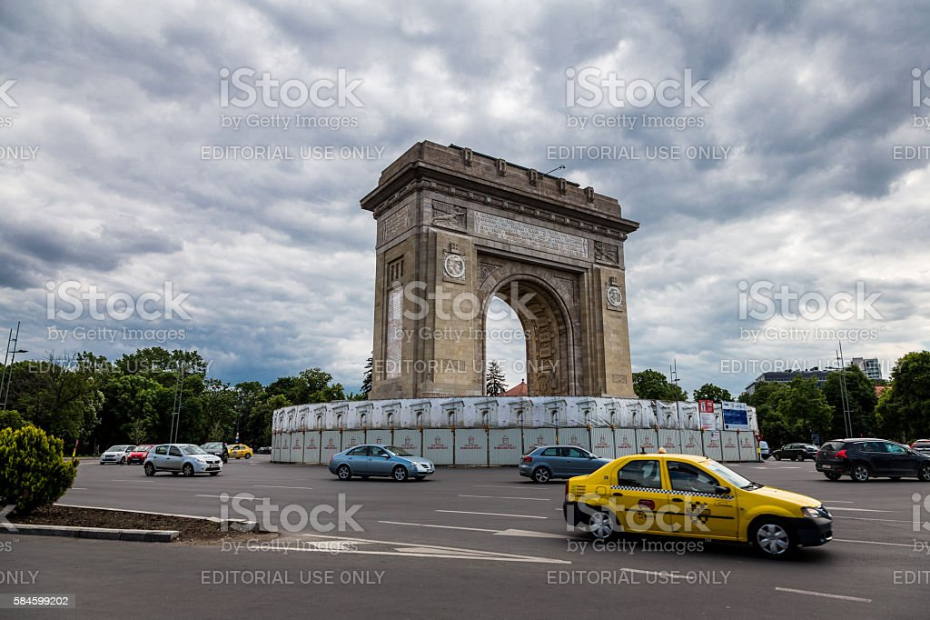 Arcul de Triumf, Bucharest, Romania stock photo