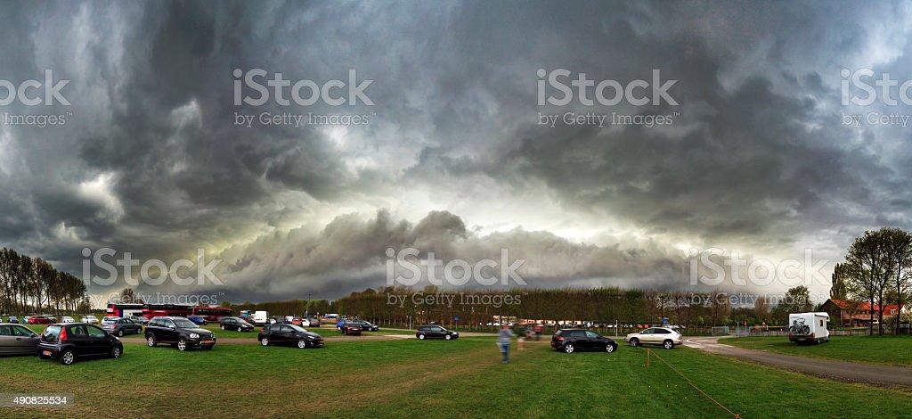 Arcus cloud panorama stock photo