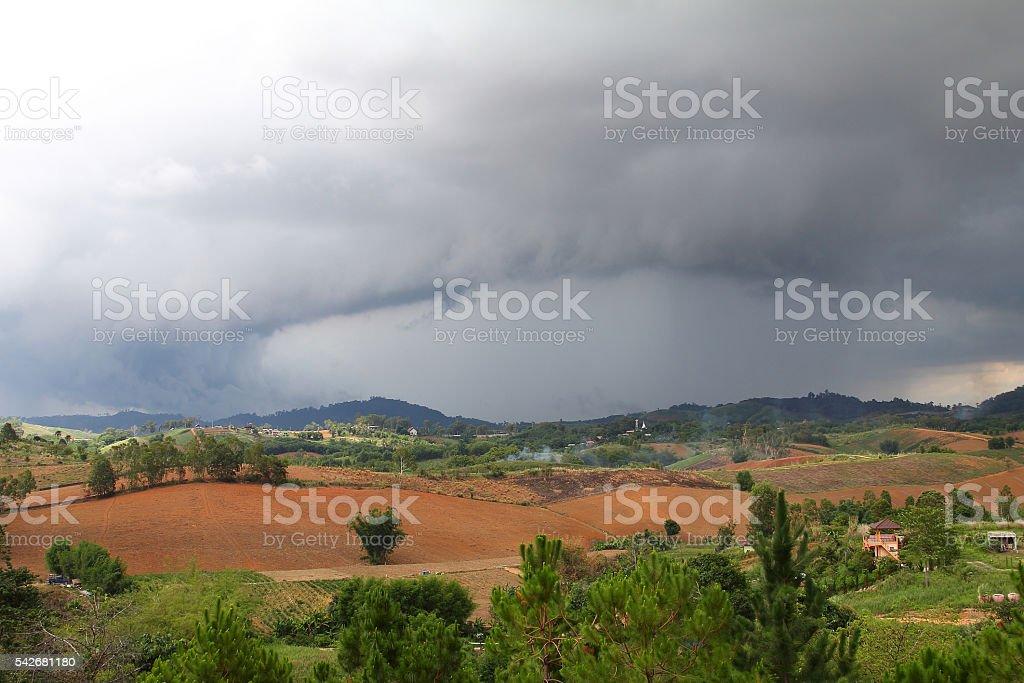 arcus cloud stock photo