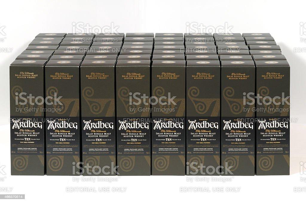 ardbeg boxes stock photo