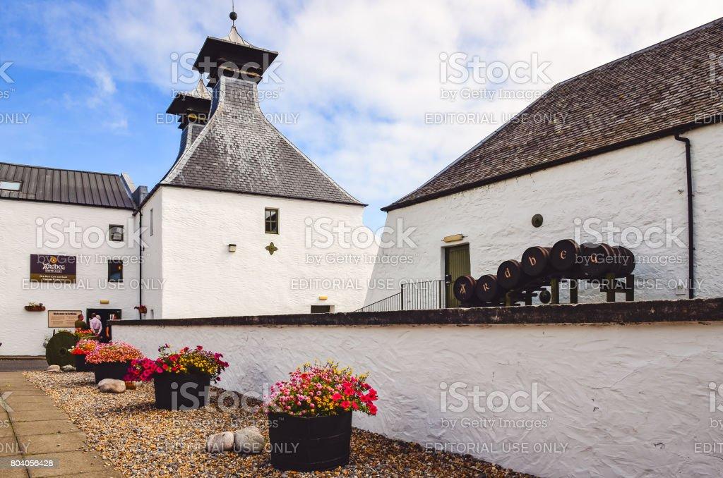 Ardbeg distillery entrance, Islay, United Kingdom stock photo