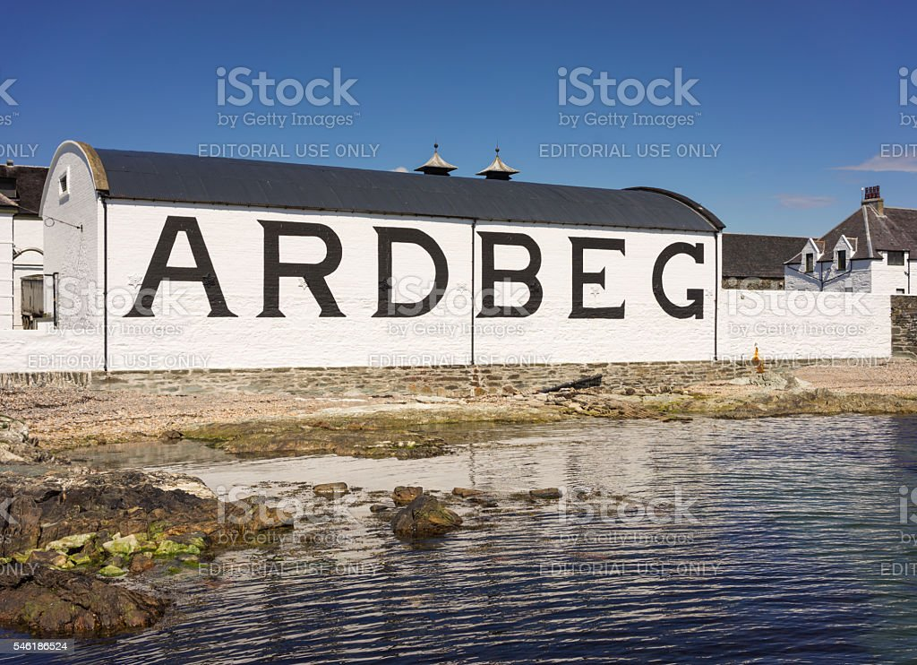 Ardbeg Distillery on Islay stock photo