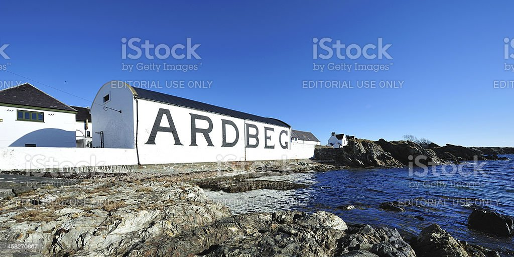 Ardbeg Distillery stock photo