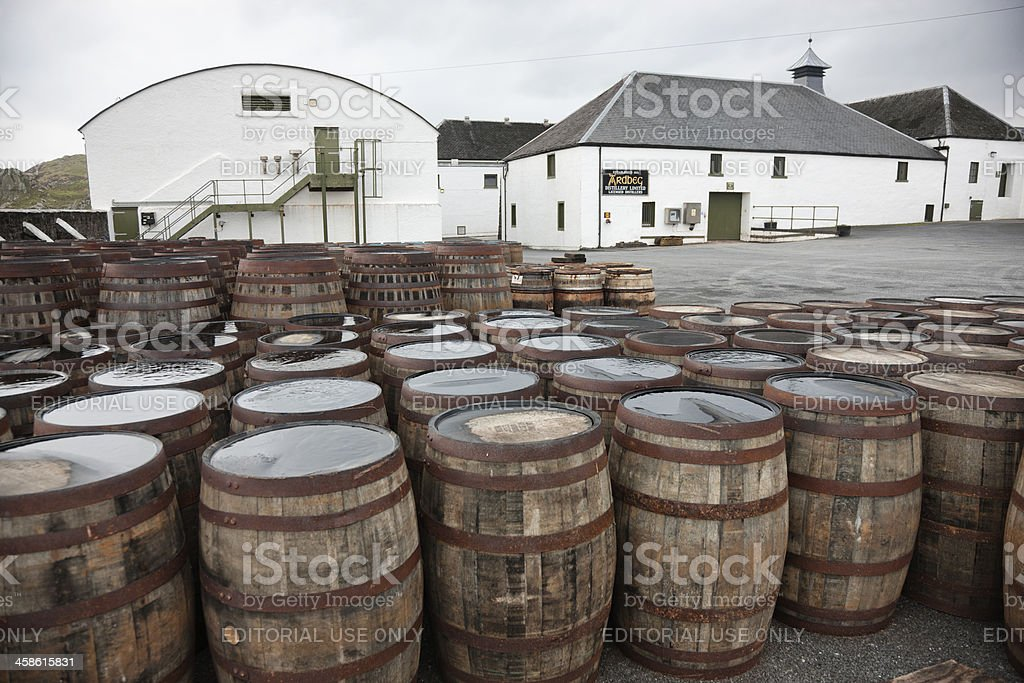 Ardbeg Distillery stock photo