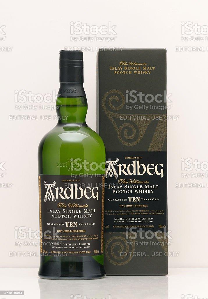 Ardbeg whisky stock photo