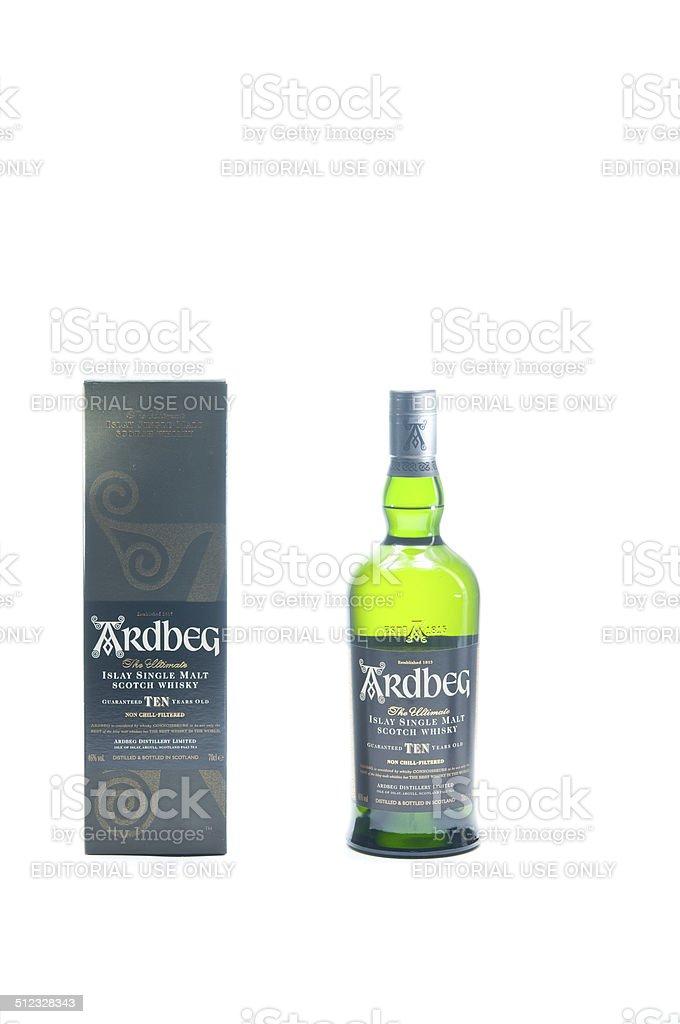 Ardbeg Whisky set stock photo