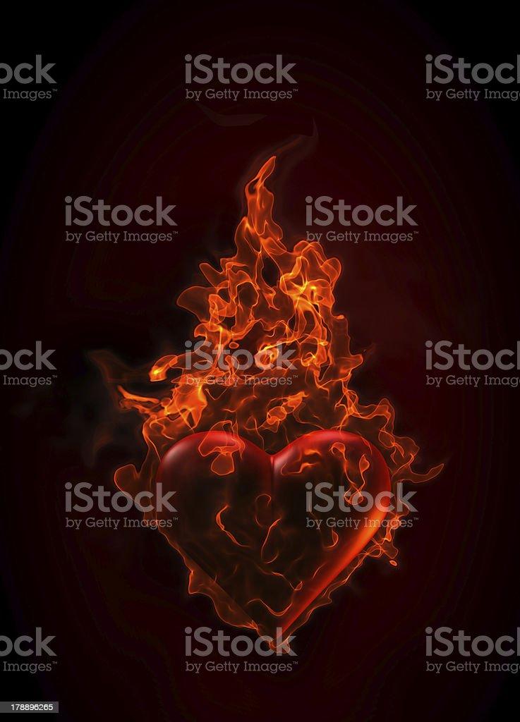 Ardent heart royalty-free stock photo