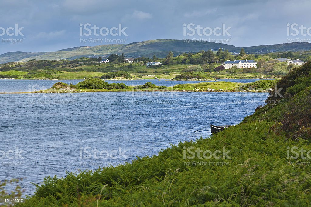 Ardmore bay and coast stock photo