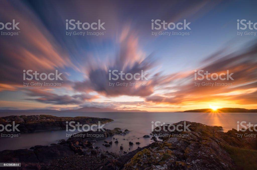 Ardneil Bay stock photo
